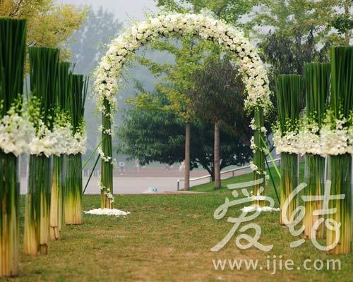 绿色+白色花园婚礼 就爱小清新(组图)