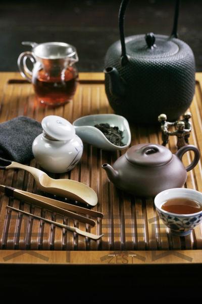 中式下午茶的茶具图片