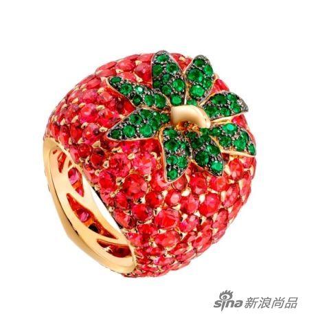 Piaget草莓戒指