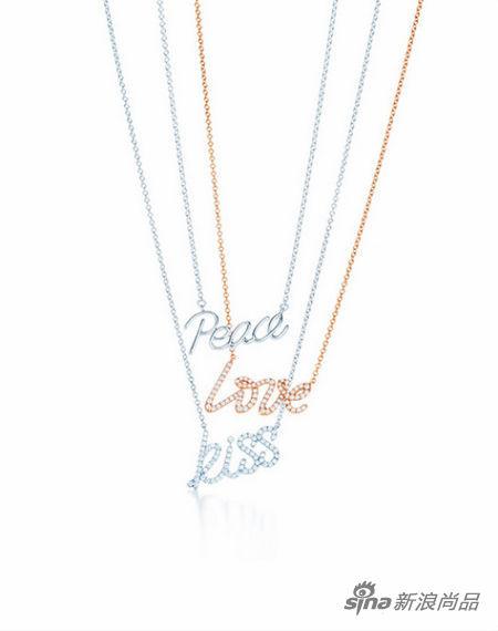 Tiffany单词系列项链-蒂凡尼项链 设计大师的非凡力作