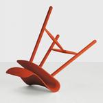 Kristalia红色折叠椅