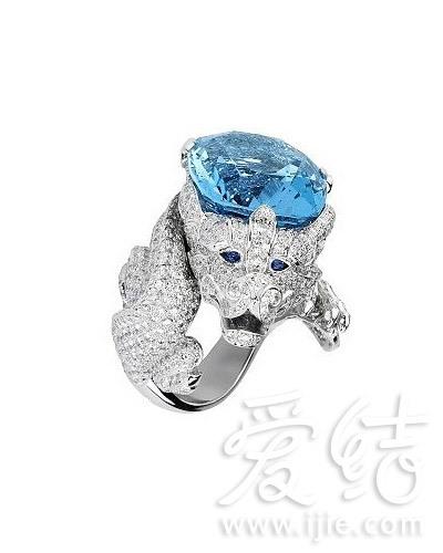 卡地亚龙形宝石戒指