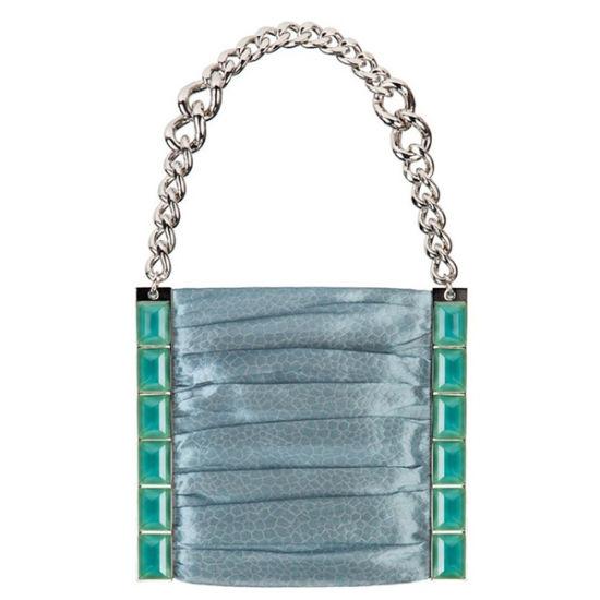 Giorgio Armani 2012春夏新品:水蓝色链条包