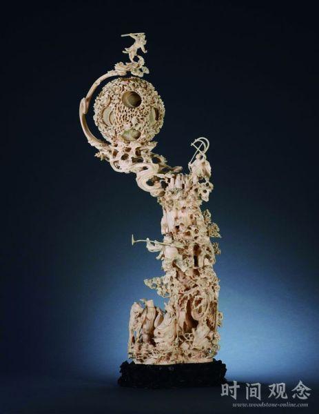 民国时期的象牙镂雕西游记摆件