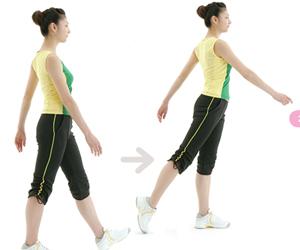 5.大幅度摆臂和跨步