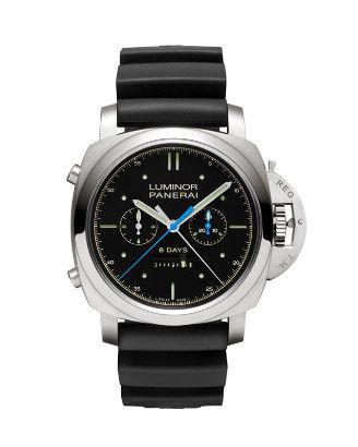 沛纳海钛金属双追针计时腕表
