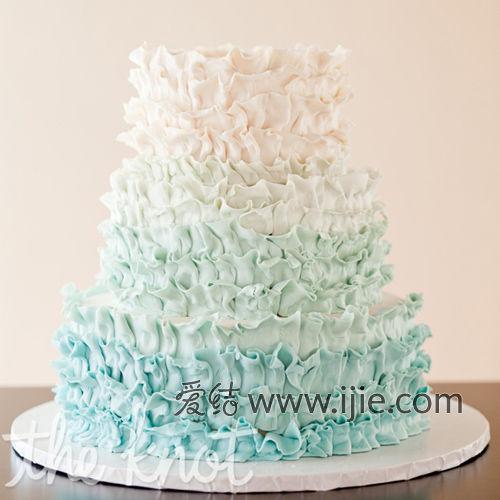 爱结精选:蓝色婚礼蛋糕9款