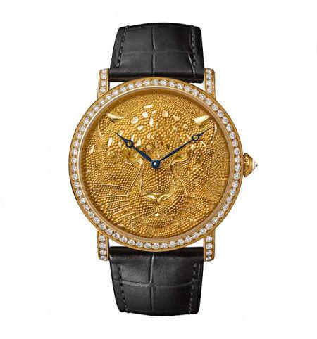 卡地亚 Rotonde de Cartier猎豹装饰腕表