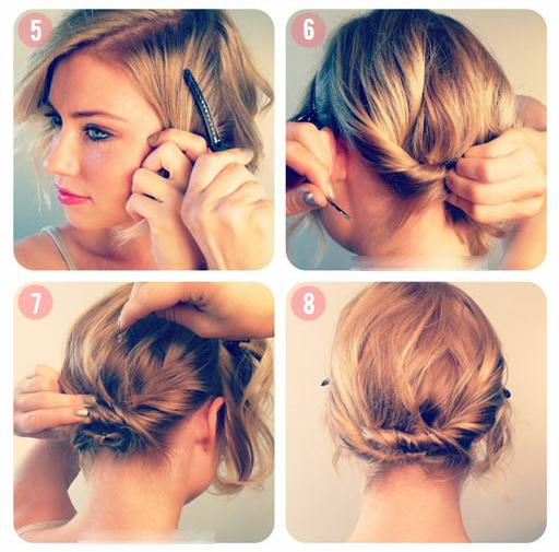 Убранные прически для коротких волос