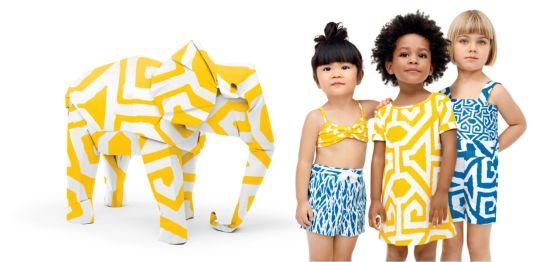 GapKids & babyGap X DVF全球限定款式珍稀,重�c �纹钒�括充满非洲风格的�T�f印花�B身裙、短裤和 泳�b等