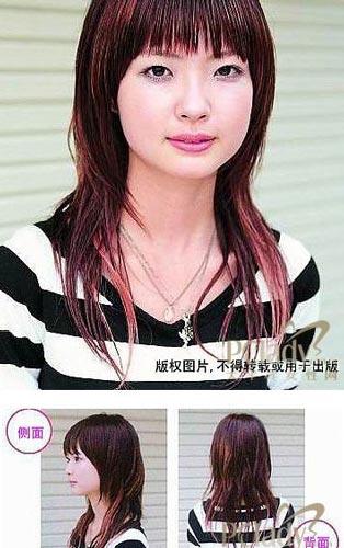 长发剪高层次发型图片展示图片图片