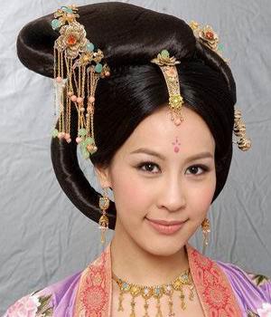 古代妃子头发的简笔画