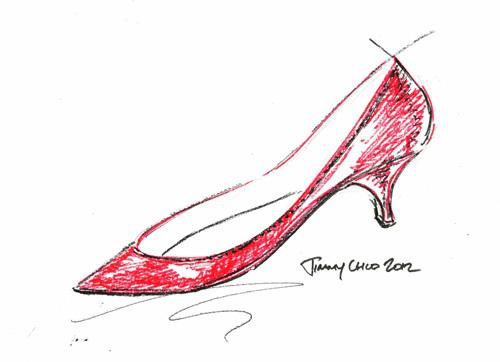 女鞋设计图 画法