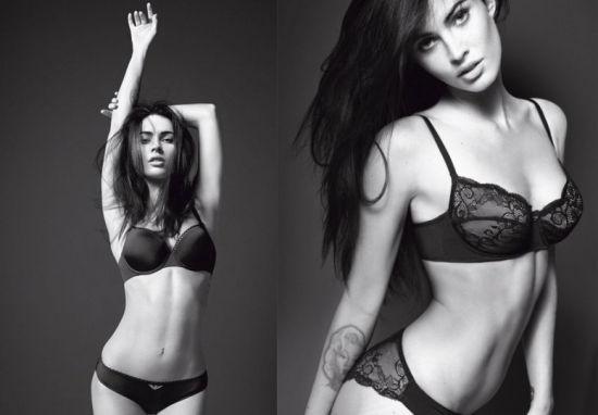 梅根-福克斯性感撩人内衣广告