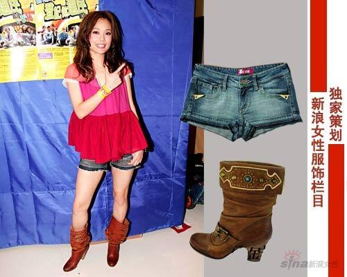 牛仔的热裤最受欢迎,又独以紧又短的款式得分最高