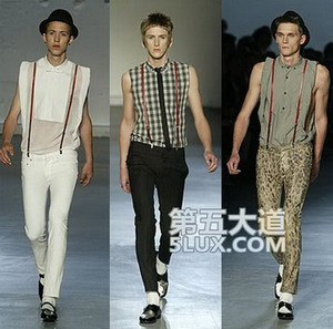 白袜子俱乐部恋男脚-me T台上的白袜+绅士鞋-时尚天敌 让潮人们抓狂的白袜子图片