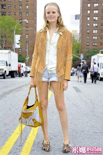 新一轮欧美模特街拍震撼登场