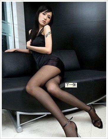 超短裙加黑色丝袜