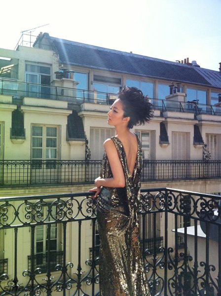 桂纶镁VOGUE时尚大片 Chanel高级定制时装成熟气质(图1)
