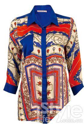 丝巾图案衬衫 KooKai 1280元