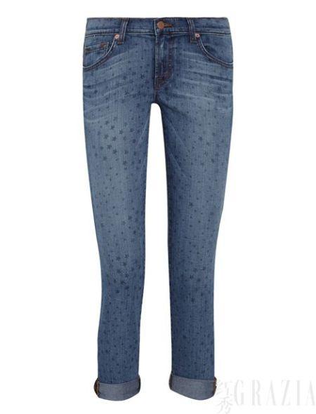 J Brand星形印花低腰牛仔裤,$200