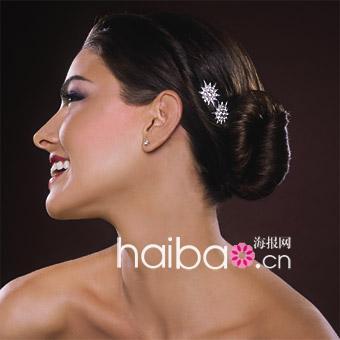 新娘盘发,散发出优雅浪漫的法式风韵……   美式乡村风格新娘发型图片