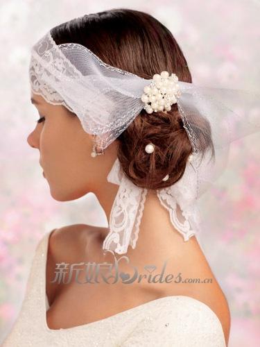 发型设计 清丽花结-新锐新娘发型 玩转丸子头 组图图片
