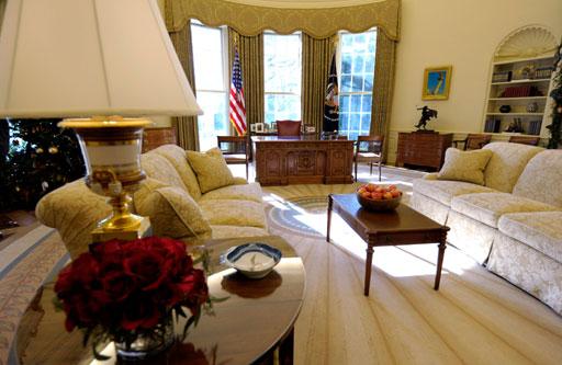 白宫椭圆形办公室渐成奥巴马风格 图 新浪女性 新浪网