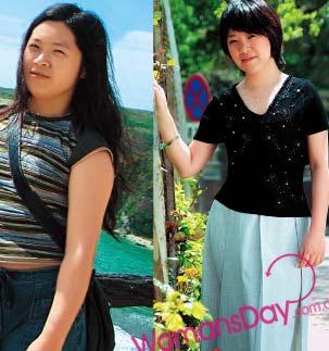 减肥前后对比照