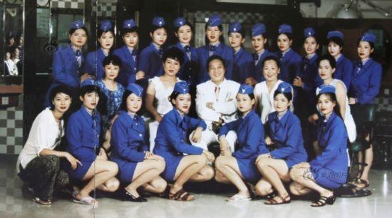 王林《中国人》相册其中的一张合影照片。