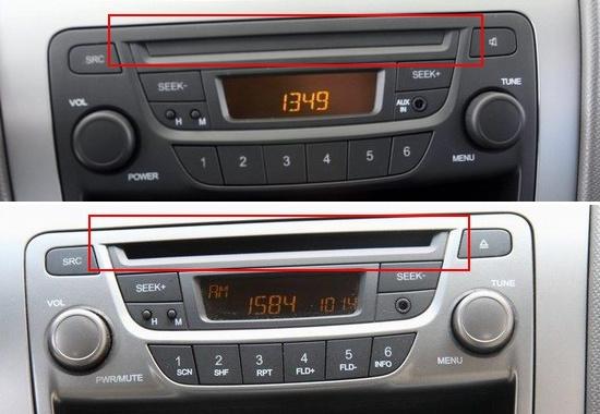 002(新赛欧高配和低配车型音响系统区别在于CD和喇叭数量,但全系都配置了AUX-in外接音频接口