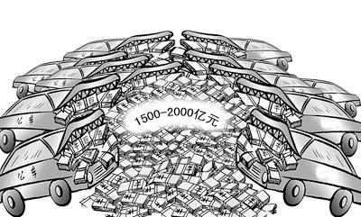 我国每年仅公务用车消费支出就达1500亿~2000亿元,据国家财政部统计,全国超编配车率达50%以上。