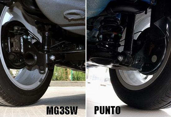 MG3 SW与鹏托的底盘对比