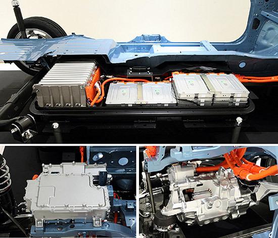 Leaf电动车采用薄型化锂电池模块,最长续驶里程可以达到160公里,这一续航能力已经可以满足70%消费者每日的驾驶里程所需