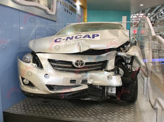 卡罗拉碰撞测试车