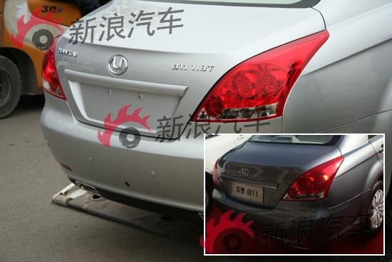 B11的尾部与之前亮相车型并没有太多的差异,只是在尾部左右增加了铭牌