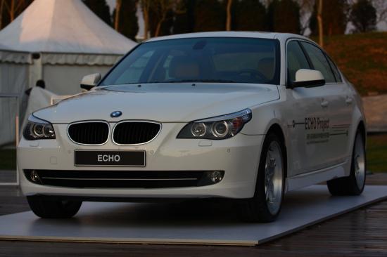 图为宝马与同济大学合作的基于5系车型的纯电动车ECHO