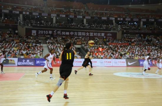风神赞助中古国际女篮对抗赛