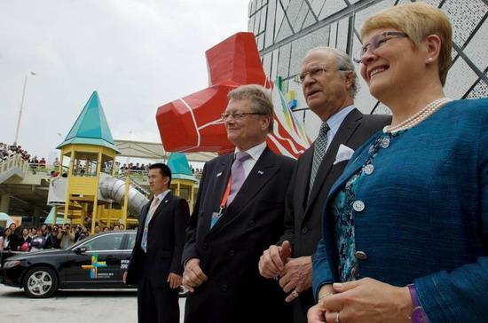 沃尔沃S80L接送瑞典国王及首相
