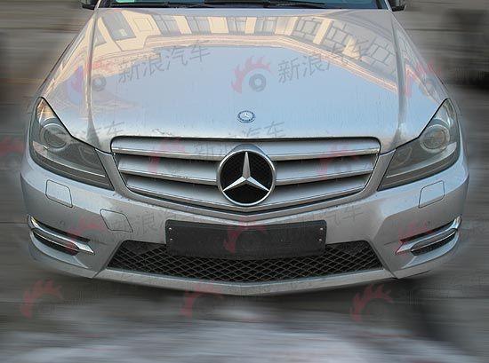 国产改款奔驰C260,与C200前脸略有不同