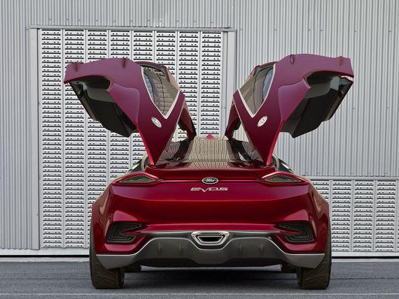 福特Evos概念车鸥翼式设计