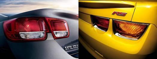 Malibu迈锐宝和Camaro科迈罗上运动化的立体式方筒双尾灯