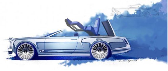 宾利慕尚敞篷概念车设计图发布