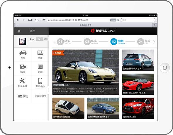 新浪汽车iPad版首页