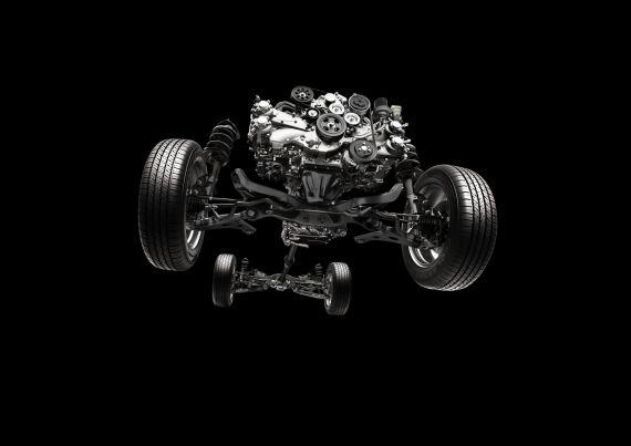 左右对称全时四轮驱动系统