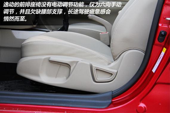 前排座椅采用手动调节