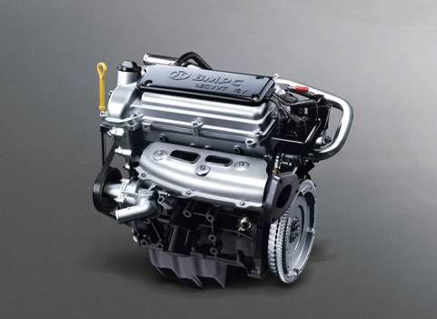 图为:北汽威旺306超值版发动机