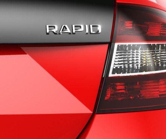 斯柯达Rapid新车型预告图 或亮相法兰克福