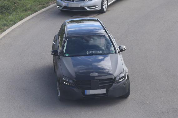 新款奔驰C级旅行版谍照首曝 明年发布