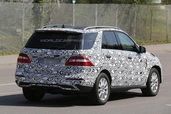 Mercedes-Benz M-Class facelift Spy 04